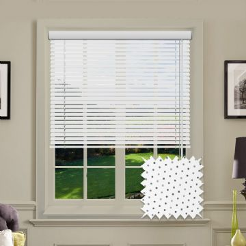 Perforated White Gloss Aluminium venetian blind